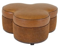 King Street Leather Cocktail Ottoman