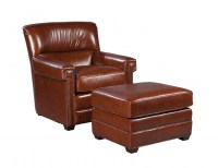Victor Leather Chair & Ottoman
