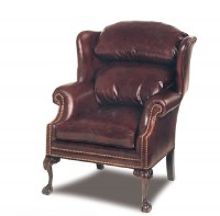 Timberlake Leather Wing Chair