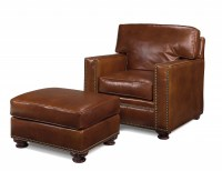 Butte Leather Chair & Ottoman
