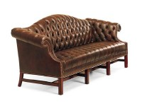 Sophia Leather Sofa With Tufted Seat & Tufted Back