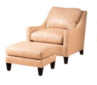 Zack Leather Chair & Ottoman
