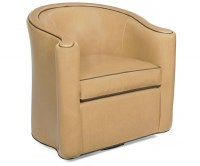 Horseshoe Leather Swivel Chair