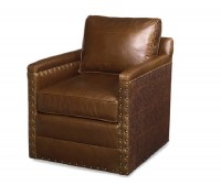 Trilby Leather Swivel Chair