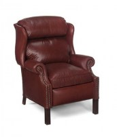 Brass Nailed Charleston Leather Recliner