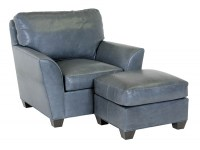 Bodie Leather Chair & Ottoman