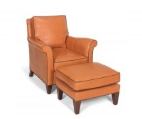 Dino Leather Chair and Ottoman
