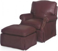 Maryland Leather Chair & Ottoman
