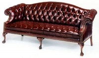 Ball in Claw Leather Sofa