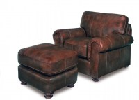 Leather Furniture Decor Chair & Ottoman