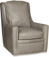 Percy Leather Swivel Chair