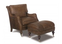 High Point Leather Chair and Ottoman