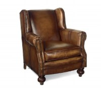 Churchill Leather Chair & Ottoman