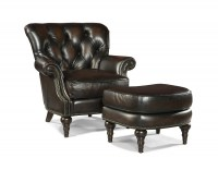 Hamilton Leather Chair & Ottoman