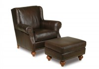 High Country Leather Chair and Ottoman