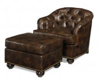 Coleman Leather Chair & Ottoman