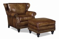 Kruger Leather Chair & Ottoman