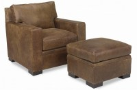 Peoria Leather Chair & Ottoman