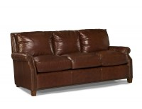 Kingston Leather Sofa In Auburn