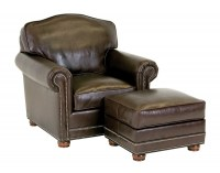 Nordland Leather Chair & Ottoman
