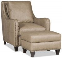 Greco Leather Chair & Ottoman