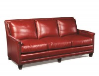 Prescott Leather Sofa In Red