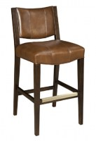 Francis Armless Leather Bar Stool