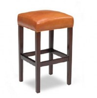 Reno Armless Leather Barstool