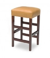 Sabrina Leather Armless Bar Stool