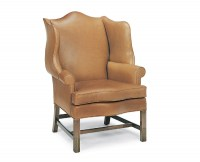 Loose Cushion Tight Back Leather Chair