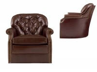 Tampa Bay Leather Swivel Chair