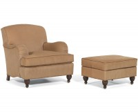 Armstrong Leather Chair & Ottoman