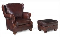 Finney Leather Chair & Ottoman