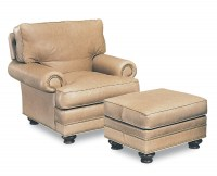 Bon Aire Leather Chair & Ottoman