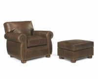 Sanabel Leather Chair & Ottoman