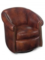 Marietta Swivel or Glider Leather Tub Chair