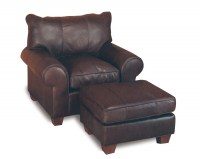 Pioneer Leather Chair & Ottoman