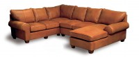 Old World Leather Sectional