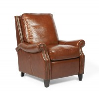 Brighton Leather Recliner In Saddle