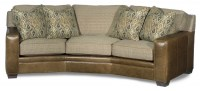 Hanley Leather & Fabric Conversation Sofa