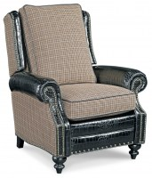 Silas Leather Recliner With Fabric & Leather