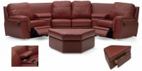 Brunswick Leather Home Theater Group