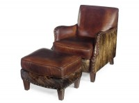 Lanelli Leather Chair & Ottoman