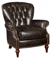 Tufted Back Leather Chair