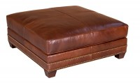 Samson Leather Cocktail Ottoman