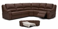 Delaney Leather Reclining Sectional
