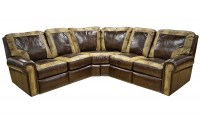 Frisco Leather Reclining Sectional