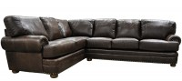Houston Leather Sectional Sofa