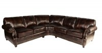 Anna Leather Brown Sectional