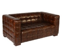 Nautical Leather Loveseat